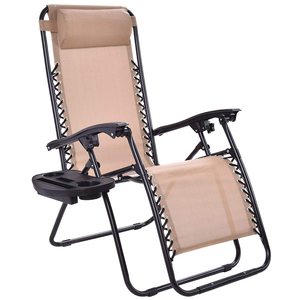 Folding camping lounge chair with carry bags big capacity 150kg for adult