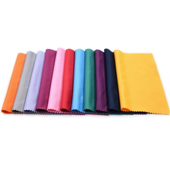 In stock multi color size premium microfiber eye glasses wiping cloth