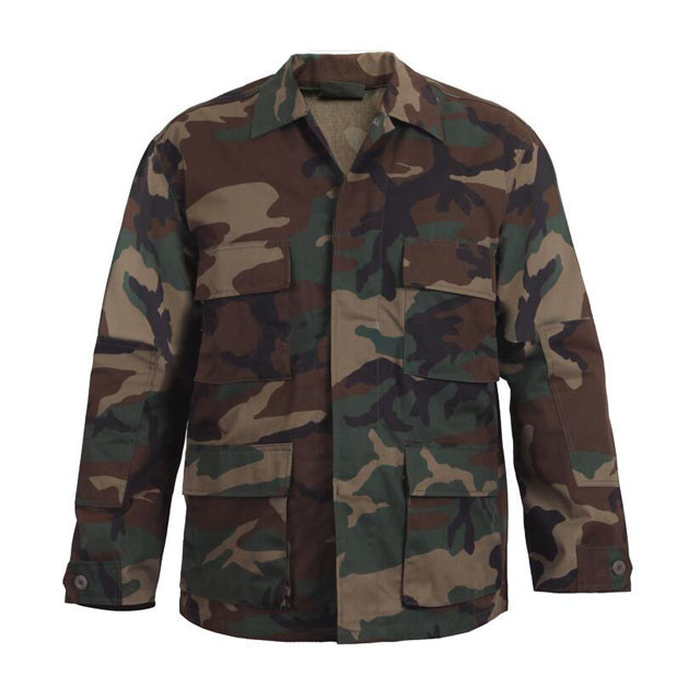 Custom Military Jacket  Digital Woodland Camo Battle  Shirts Army Combat Coat