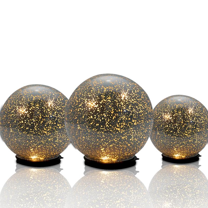 Mercury Glass Decorative Balls Amusing Purple Glass Decorative Hanging Balls Colorful Led Ball Lights For Decorating Inspiration