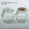 round glass spice jar set salt and pepper shaker with two color