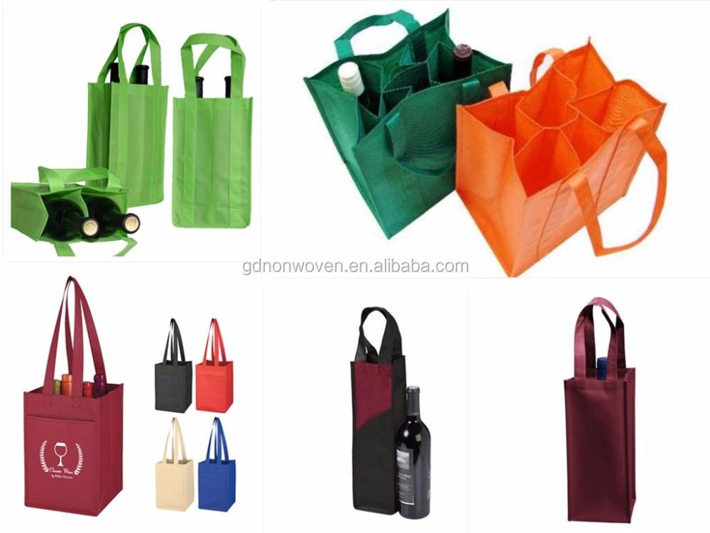 non woven wine tote bags