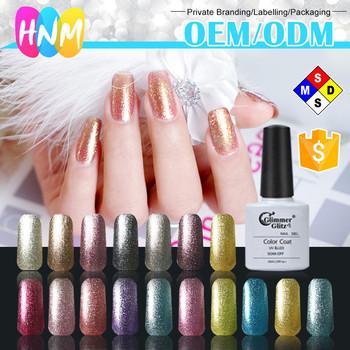 Soak Off 32 Colors Liquid Gel Nails Professional Polish Platinum