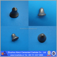Cap-shaped carbide tips for road milling cutter