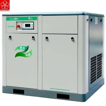 Good price HONGWUHUAN LG75EZ new design industrial 75kw screw air compressor