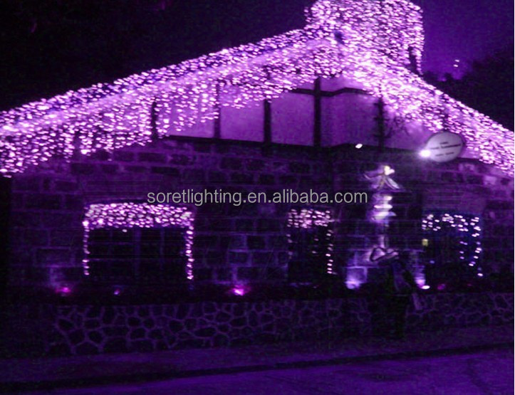 Pink/purple Outdoor Christmas Icicle Lights,Customized Size Led ...