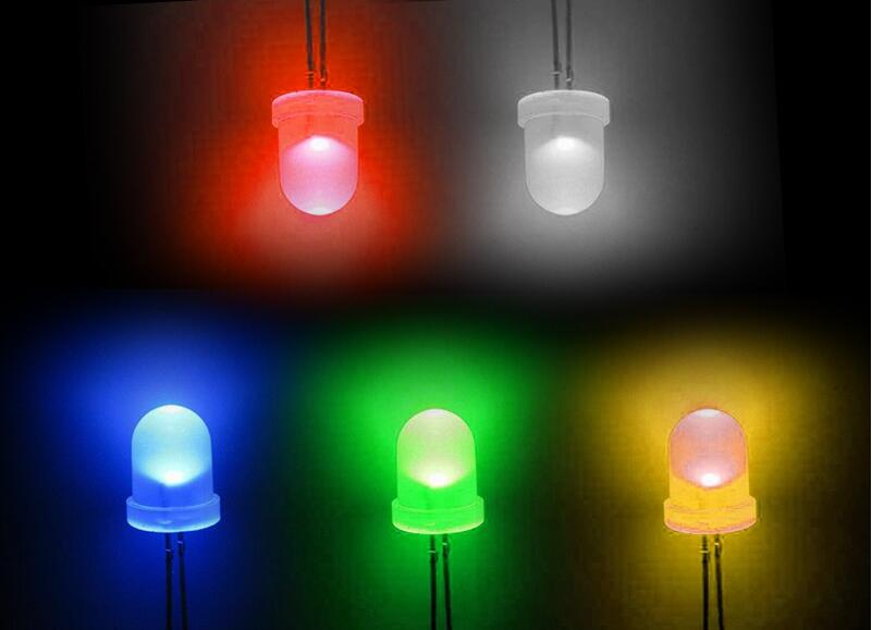 100 pcs 0.5W 8mm StrawHat White SUPER BRIGHT LED Light Lamp NEW