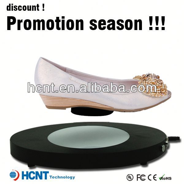 new invention ! magnetic levitating led display stand for shoe woman,michael jackson shoes