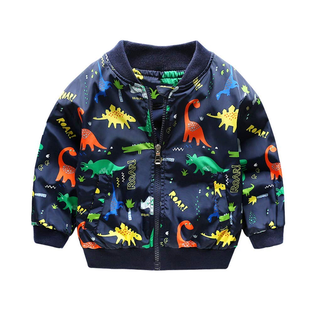 ee180578cc4 Get Quotations · Sameno Baby Kids Boy Cute Dinosaur Jacket Outerwear Coat Boys  Girls Children Clothing