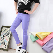 Children's clothing candy color female child legging pencil pants small child slim casual trousers