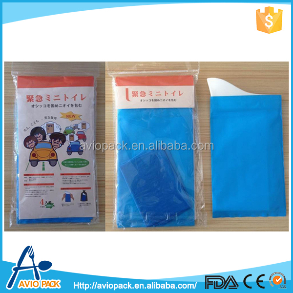Disposable airplane travel sickness bag medical vomit bag with super absorbent pad