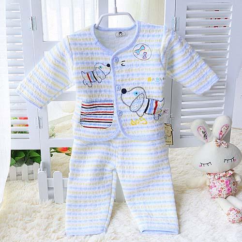 96f55bd40 حار بيع اثنين-- قطعة ملابس اطفال طفل لطيف تصميم أبيض عادي أطقم ملابس داخلية