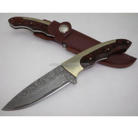 OEM Fixed Blade Knife Type and Damascus Blade Material for hunters