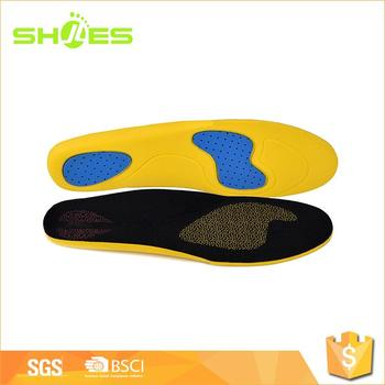 High quality eva wholesale shoe yellow insoles