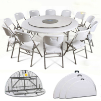Wholesale white dining folding table round banquet wedding table