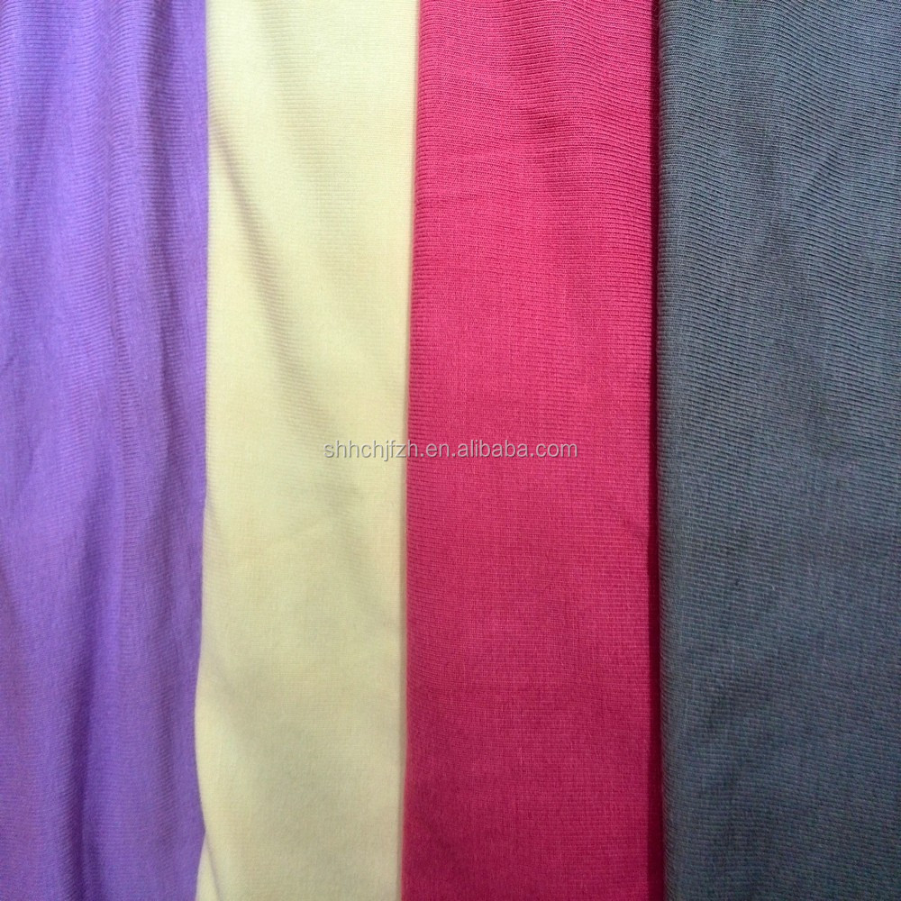 Bamboo Charcoal Spandex 4 ways Knitted Fabric
