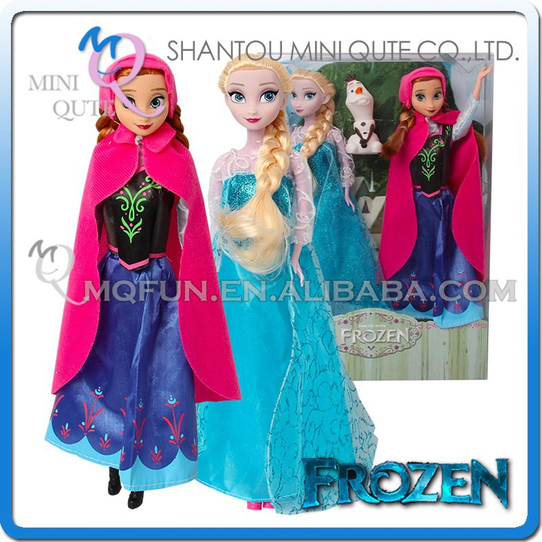 Mini Qute wholesale 3 in 1 with olaf movable joints Plastic cartoon Frozen doll frozen princess anna & elsa girls children toys