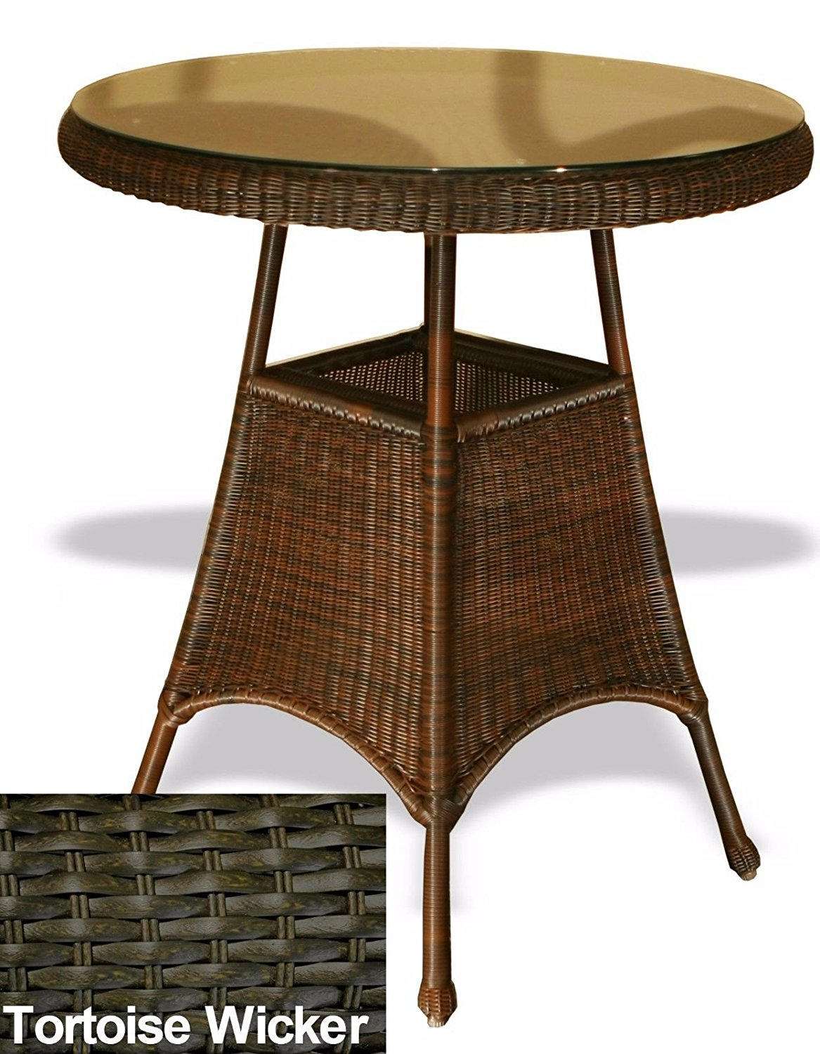 Superbe Stylish Modern Outdoor Patio Garden Bar Table In Tortoise All Weather  Wicker  By# Cj