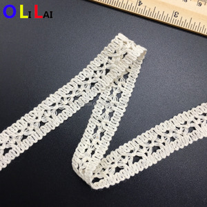 OLCT0240 1.9cm fashion white cotton eyelet crochet guipure lace for ladies dress