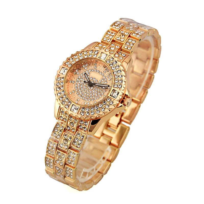 cheap wholesale fancy ladies watches full diamond with quartz movt in stock for women