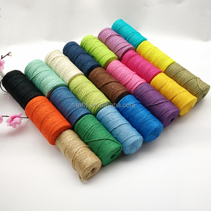 factory wholesale high qulity 100M 3 PLY colorful Natural twisted Jute Twine Rope