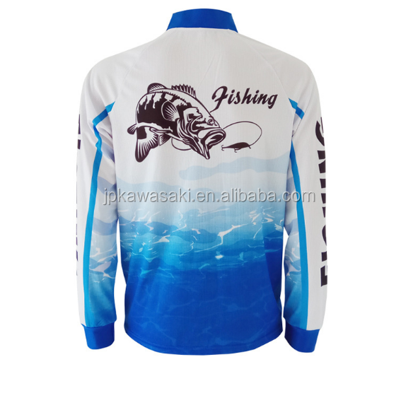 long sleeve cool dry custom sublimation printed fishing shirts