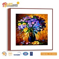 Modern Vase Chinese Canvas Flower Oil Painting