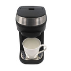 Mini electric drip coffee maker with single serve