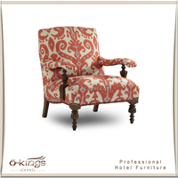Wooden chair sofa hotel room antique furniture