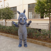 Crazy sale fast deliver adult animal rhinoceros mascot costume