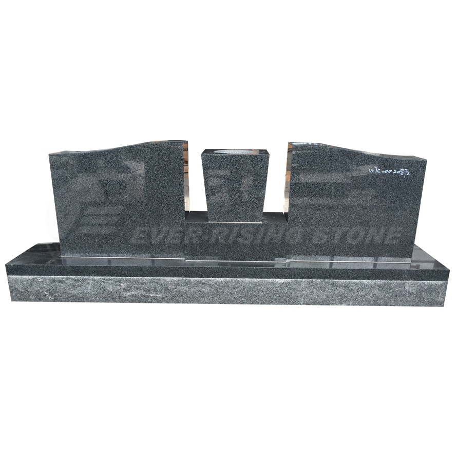 G654 China Dark Grey Double Headstones