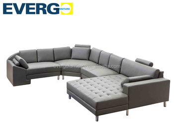 Round Leather Sofa Sectional Chaise Corner
