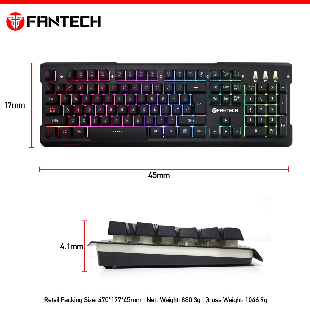 cd865780787 K612 Soldier Professional Gaming Keyboard With 9 Spectrum RGB MODE Floating  Keycaps Best Selling In Alibaba