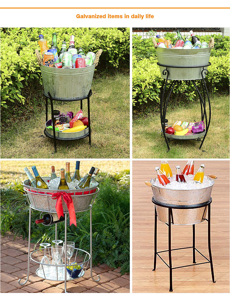 galvanized ice bucketdrinks tub with stand buy ice