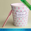Fancy disposable paper icecream bowl,paper ice cream cup with lid and spoon