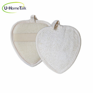 U-HomeTalk UT-MJ138 Custom for Any Size and Shape Loofah Natural Make Up Remover Loofah and Cotton Bath Scrubbing Pad and Sponge