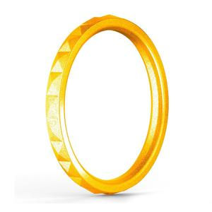 Soft modern tat wedding silicone rubber jewelry engagement ring