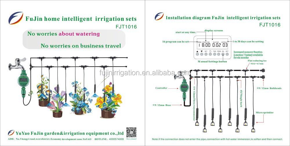 Venta caliente fujin instalaci n conveniente y kits de - Sistema de riego por goteo automatizado ...