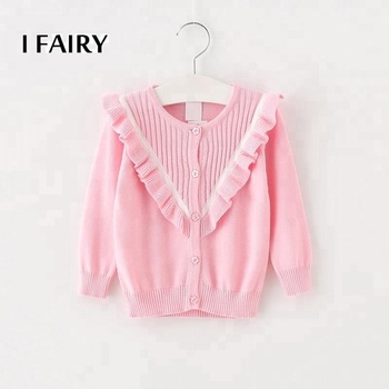 Latest ruffle sweater wholesale children's boutique clothing