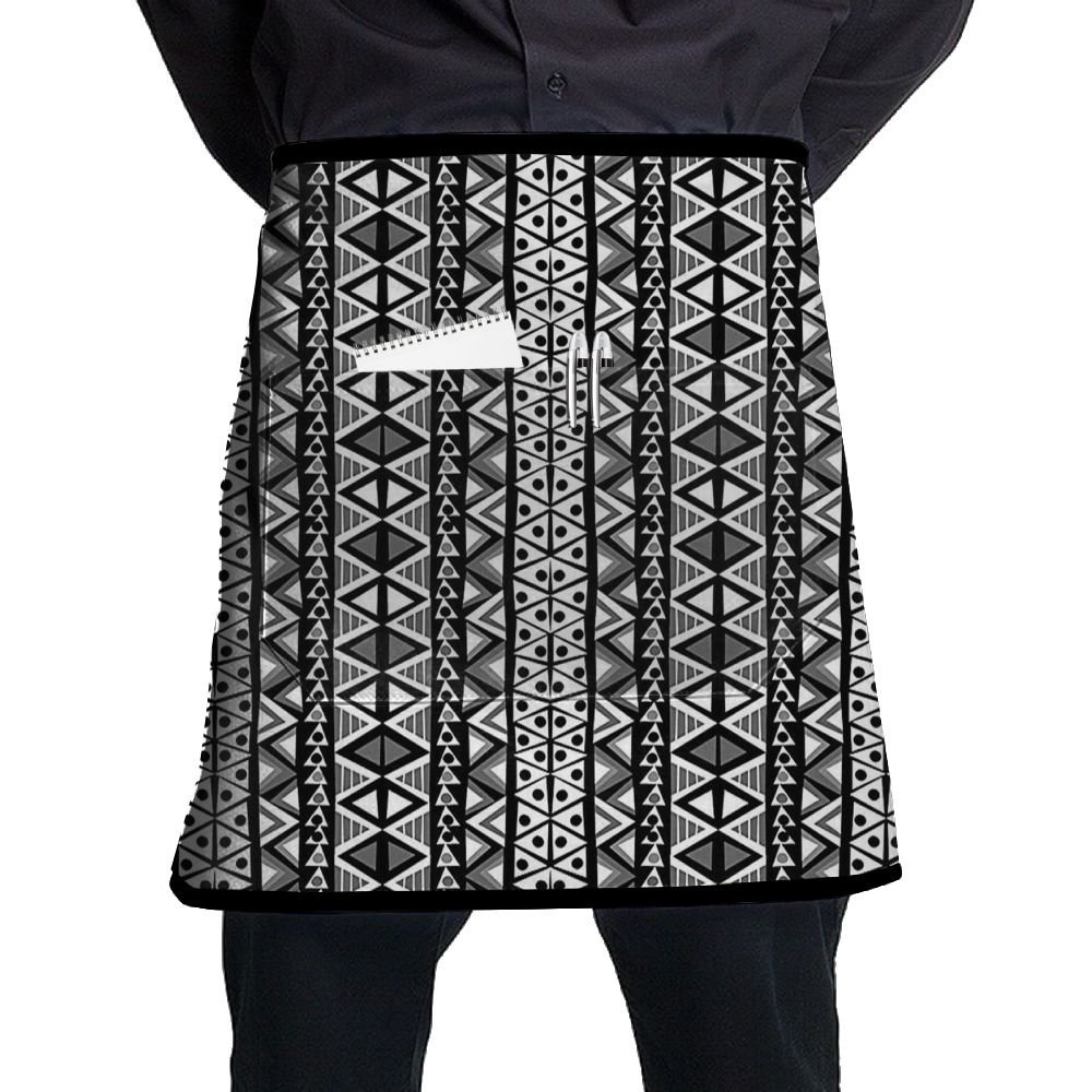 9875d5ab8e7d Get Quotations · Guiping Ethnic Boho Aztec Pattern In Black And White With  Western Navajo Effects Kitchen Apron With
