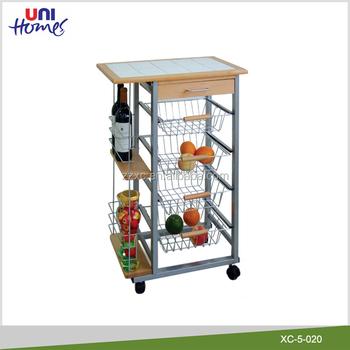 Home Kitchen Metal Food Service Cart Mobile Kitchen Trolley Cart - Buy  Kitchen Trolley Cart,Metal Food Service Cart,Food Trolley Carts For Sale ...
