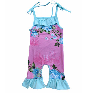 2019 Fresh Design summer kids Girls overalls sleeveless floral jumpsuit baby jumpsuit for 0-8 years