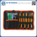 15 in 1 Reapir Tool Bag Screwdriver Set ESD Tweezers Spudger for iPhone iPad MacBook Laptop Tablet Mobile Phone Repair Tools Kit