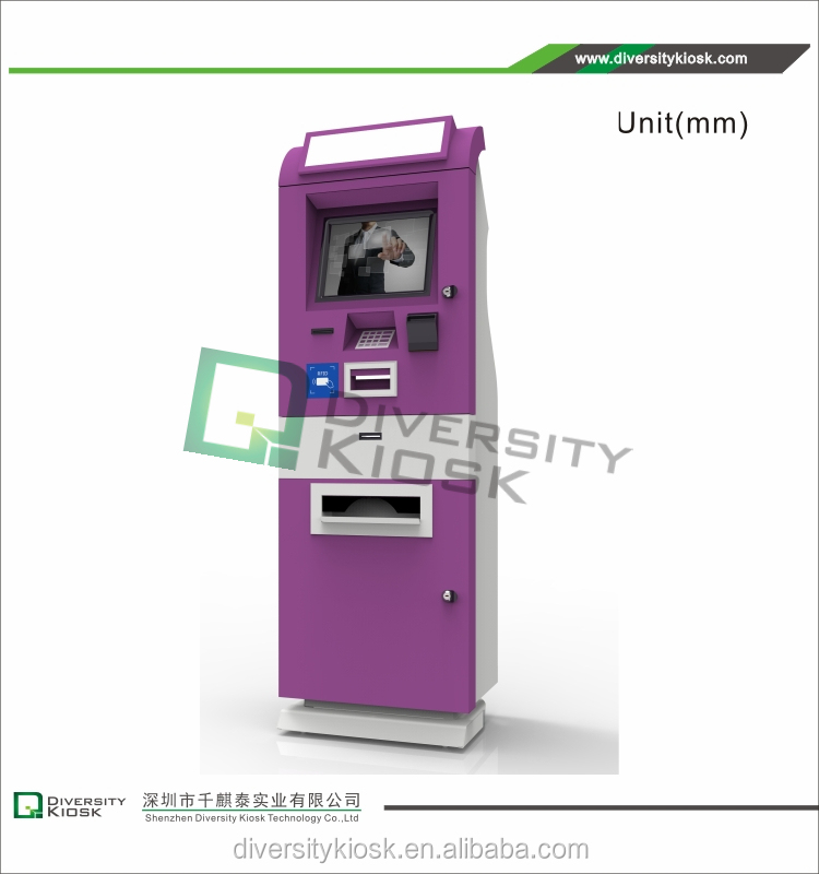 kiosk advertising lcd tv aml-s802 touch screen wireless queuing system kiosk