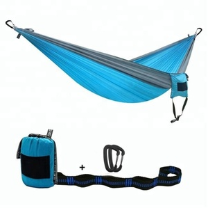 outdoor parachute cloth 210t nylon hammock / easy hanging double camping bed