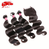 Brazilian virgin hair bundle 6A beauty brazilian body wave,100 grams/bundle 100% real human hair weaves free ship