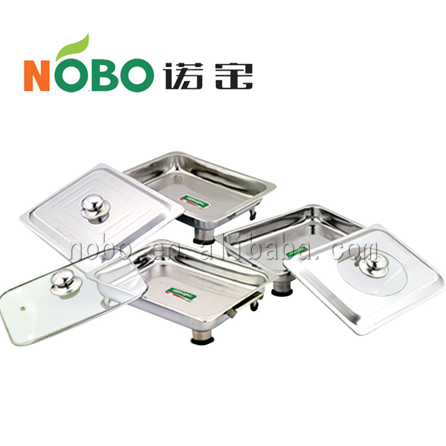 Stainless steel serving tray food tray with metal cover