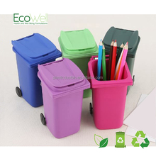mini plastic pen holder with cover