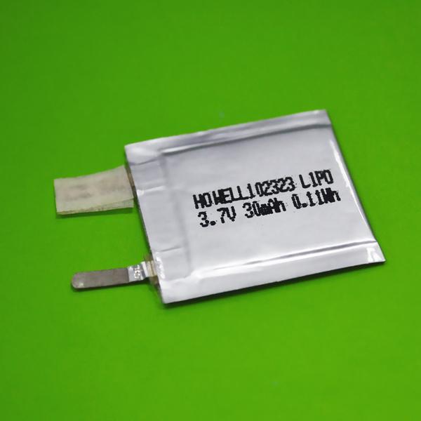 Iec62133 Un38.3 Approved 1mm Ultra Thin Lipo Battery 30mah / Ultra ...