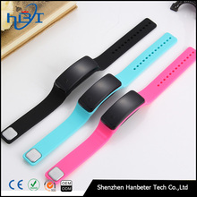 2017 new product Hot sell bluetooth silicone smart bralecet watch E06 wrist watches support android and ios mobile phone